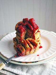 Cornmeal pancakes, Blueberries and Pancakes on Pinterest