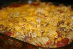 Deep South Dish: Hamburger Hot Dish Casserole  ---- no canned soups.  frugal casserole.