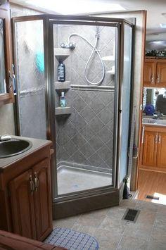 RV Shower Stall Repairs New Door Sweeps and Reseal | Door sweep ...