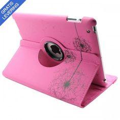 iPad cover med 360 graders roterende case – Mælkebøtte design - Pink