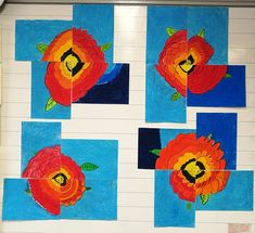 Remembrance Day Activities, Remembrance Day Art, Anzac Poppy, Art Classroom, Classroom Ideas, Fall Art Projects, Art Terms, Anzac Day, Arts Ed