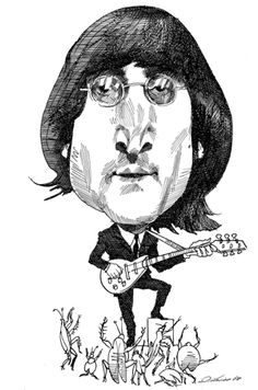 John Lennon by David Levine | The New York Review of Books