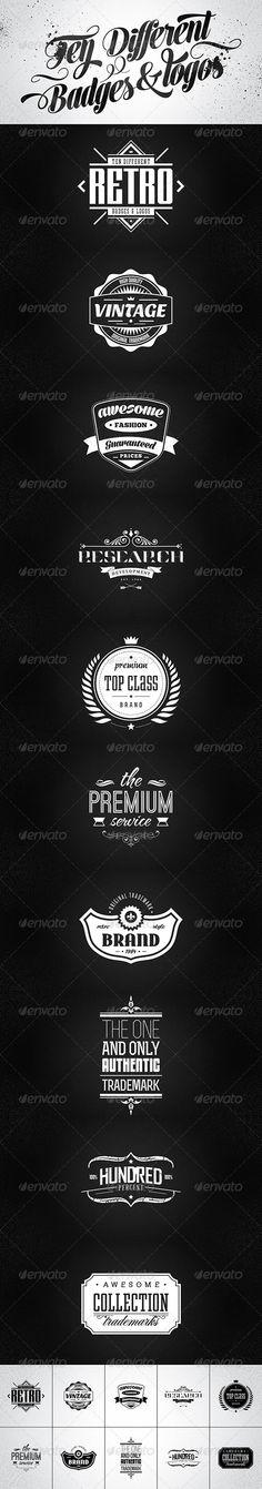 10 Retro badges & logos vol.2 by 4ustudio , via Behance