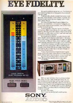 Sony Electronics, Recording Equipment, Old Computers, Band Photos, Music Images, Hifi Audio, Vintage Ads, Deck, Told You So