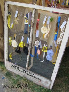 craft show booth ideas…I'm thinking jewelry holder. This might also work to hold dog collars and leashes! #pets #DIY