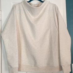 anthropologie NWOT funnel neck sweatshirt   anthropologie NWOT funnel neck sweatshirt. Heather oatmeal with banded cuff and bottom.  Dolman style sleeve. Tags removed but never worn. Super cozy and baby soft  Anthropologie Tops Sweatshirts & Hoodies