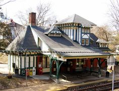 Frank Furness train stations on the old Reading and Pennsylvania Railroad lines.