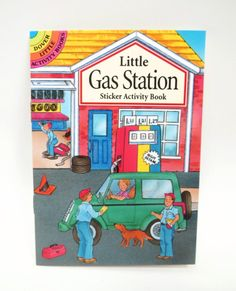 `Little Gas Station` A Dover Little Sticker Activity Book
