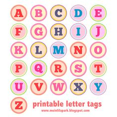 Free printable alphabet letter tags –