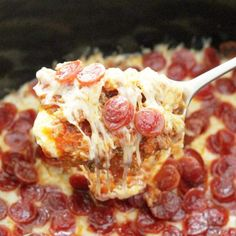 This Ultimate Pizza Dip is loaded with cheese, pepperoni and sausage and is made for the slow cooker so it stays warm and easy to dip throughout a party. Grilled Brisket, Homemade Chicken And Dumplings, Chicken Dumplings, Short Ribs Slow Cooker, Sweet Potato Souffle, Air Fryer Pork Chops, Pizza, Cheesy Potatoes, Party Potatoes