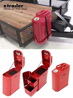 Today etrailer.com is offering this awesome gadget for 45% off! This toolbox is disguised as a 5-gallon fuel can and is used to keep accessories, tools and equipment safe - great for the trailer! An awesome holiday sale that would be a great gift idea for any dad or handyman that's always on the go.  http://www.etrailer.com/Vehicle-Organizer/Rampage/RA86619.html