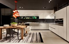 Poliform Kitchen and Furniture. Love this dining table for 8