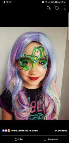 Mermaid Face Paint, Special Effects Makeup, Balloon Animals, Face Paintings, Face Art, Mermaids, Body Art, Balloons, Halloween Face Makeup