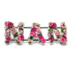 NAN LETTERS IN FLOWERS - SPECIAL DESIGNS AND LETTERS - FUNERAL FLOWERS