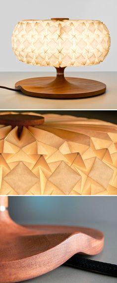 by Ofir Zucker & Albi Serfaty, in collaboration with origami artist Ilan Garibi, for Aqua Creations lights, molecul, aqua creation, table lamps, paper, artist, origami, design, tabl lamp