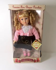 """genuine fine bisque porcelain doll collector's choice, 12"""" limited ed. with COA"""