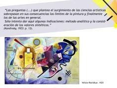 Eje: Escritos teóricos de la Bauhaus: Kandinsky. Grupo: Aguirre, Aloi, Jerez, Dalle Mura.