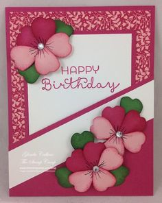 Saturday, April 23, 2016 This is the last project I demonstrated during my Live Event this past Tuesday. This is a pocket card and it used (1) 6 x 6 sheet of Pretty Petals Designer Series Paper Stack