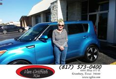 Happy Anniversary to Shirley on your #Kia #Soul from Jay Simons at Van Griffith Kia!  https://deliverymaxx.com/DealerReviews.aspx?DealerCode=PXVJ  #Anniversary #VanGriffithKia