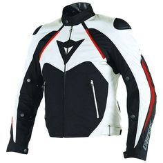 579079a3da Dainese Hawker D-Dry Jacket. Moto WearMotorcycle JacketsTouringBlack WhiteLeather  ...