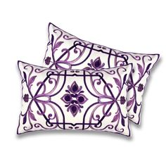 Lush Decor Georgina Plum Decorative Pillows (Set of 2) | Overstock.com