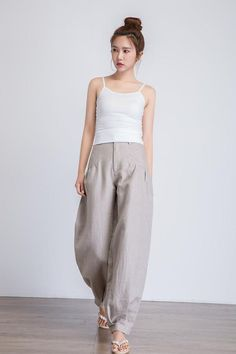 Women S Fashion Mail Order Catalogs Linen Pants Women, Trousers Women, Pants For Women, Maxi Pants, Plus Size Kleidung, Baggy Trousers, Loose Pants, Fall Skirts, Fashion Pants