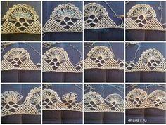 Hairpin Lace Crochet, Crochet Shawl Free, Crochet Motifs, Lace Knitting, Crochet Stitches, How To Do Crochet, Crochet Girls, Crochet Baby Boots, Crochet Jacket