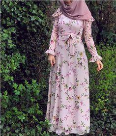 Chiffon and cotton maxi hijab outfits – Just Trendy Girls