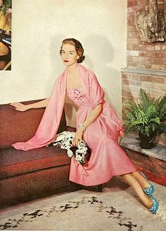 From Ladies' Home Journal, December 1952 theaccenting blue shoes