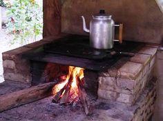 O velho fogão de lenha!