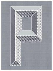 """P"" print by Scott Thorpe ($25)"