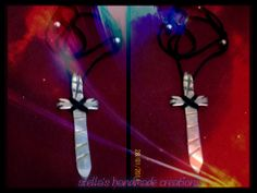 handmade 925 oxidised silver cross with adaptable lace and silver elements