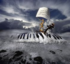 This Polish photographer combines playfulness of form and traditions of surrealism Music Drawings, Music Artwork, Music Notes Art, Art Of Noise, Piano Art, Surrealism Painting, Music Wallpaper, Dark Photography, Surreal Art