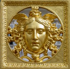 Medusa on the gates of the Palace of Versailles, France.