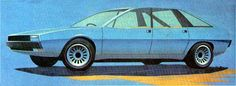 1976 Rover SD1   3 concepts were developed in full-size. Here the first one.