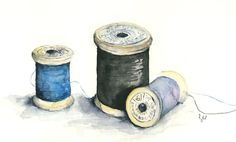 Watercolor spools
