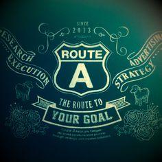 Chalk board, Route A