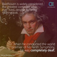 """""""Beethoven can write music, thank God, but he can do nothing else on Earth,"""" once said Ludwig van Beethoven. LEARN MORE: https://curiosity.com/playlists/the-brilliance-of-beethoven-oLlKVNwx/?utm_source=pinterest&utm_medium=social&utm_campaign=20141216pinbeethoven"""