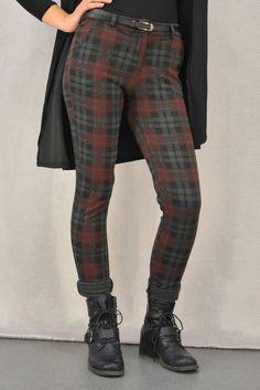 Γυναικείο παντελόνι καρό  PANT-5015 Παντελόνια - Παντελόνια - Γυναίκα Black Jeans, Pants, Fashion, Trouser Pants, Moda, Fashion Styles, Black Denim Jeans, Women's Pants, Women Pants