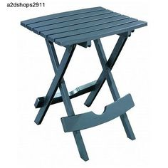 Indoor/Outdoor Folding Resin Side/Accent Table, UV Inhibitor,Patio/Pool/Dorm Use