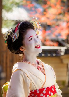 A maiko in Kyoto, Japan