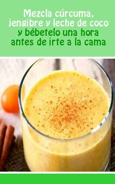 Healthy Diet Recipes, Clean Recipes, Healthy Drinks, Smoothie Recipes, Sweet Recipes, Healthy Life, Turmeric Uses, Turmeric Health, Coconut Drinks