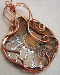 Ammonit Wire Wrapped in Copper