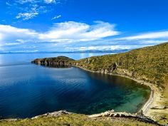 #sky #blue A view from Isla Del Sol in #Bolivia located in the middle of Lake Titicaca on the border of #Peru. #travel #landscape Discovered by Troy Whitmarsh at Isla del Sol, La Paz, Bolivia