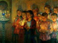 Russian Painter: Bogdanov-Belsky Nikolai - 'The Church' Russian Painting, Russian Art, Religious Paintings, Religious Art, Art Ancien, Russian Orthodox, Art Database, Art Studies, Oeuvre D'art