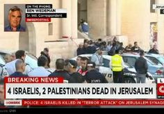 CNN's initial report on terror attack, screenshot No reference to Palestinian terror  attack on Jewish worshipers in the Synagogue