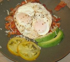 Chilaquiles with eggs and queso fresco