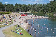Silvolan tekojärvi on vilkkaassa virkistyskäytössä. / Silvola artificial lake is very popular during summer.