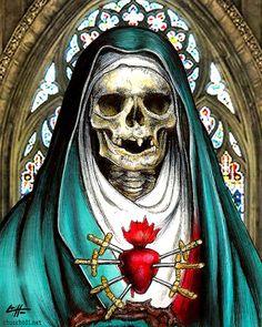 Our Lady of Sorrows Sacred Heart Saint by chuckhodi