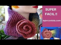 Very easy to knit from a single piece Weft with rose/ easiest knitting patterns / Figen Ararat Crochet Scarves, Crochet Shawl, Knit Crochet, Knitting Videos, Crochet Videos, Easy Knitting Patterns, Crochet Patterns, Design Youtube, Crochet Neck Warmer
